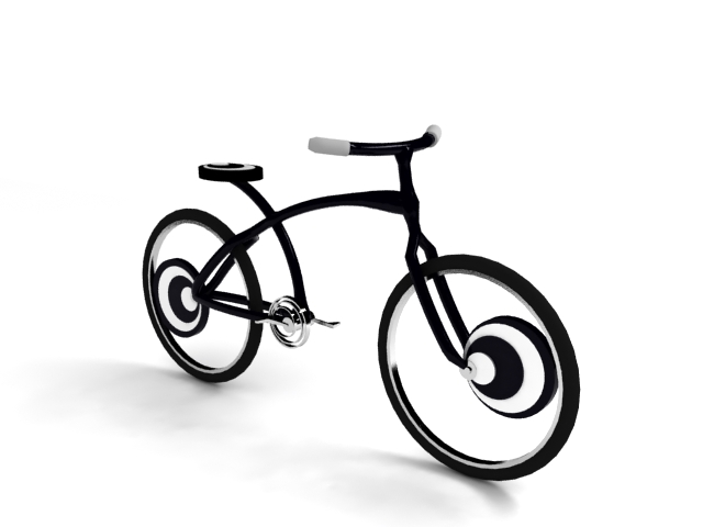 Op Art Concept Bike