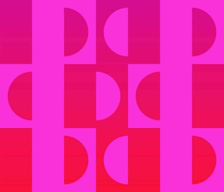 Op Art Facing Apart Fuchsia Red