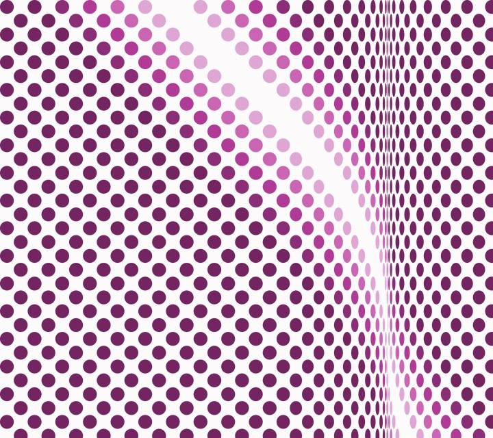 Op Art Homage to BR Undulating Circles Bicolor 03 08 Purple