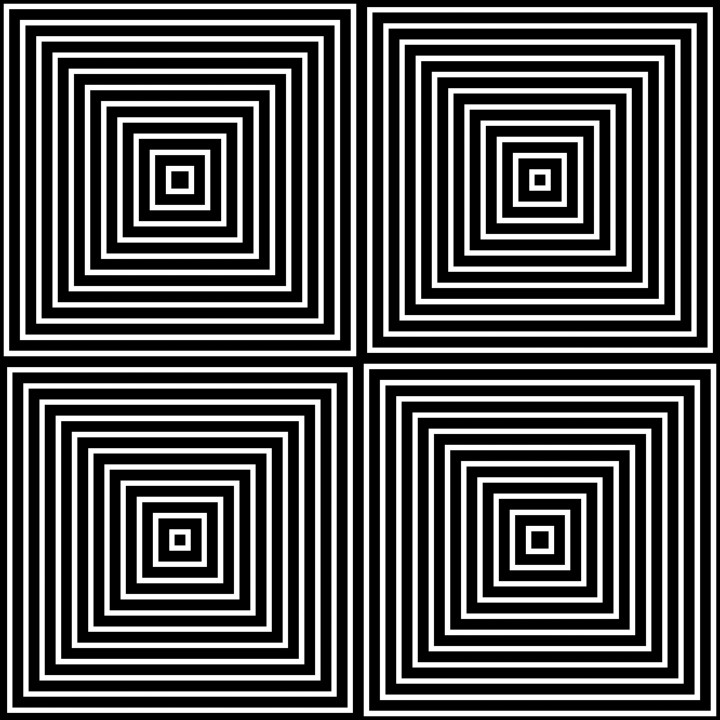 Op Art Only Symmetrical Shapes 01 SeamlessEasy Black And White Op Art