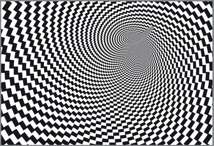 Off Centre Circular Op Art