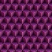 Op Art Cubes Pattern Purple Seamless