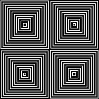 Op Art Only Symmetrical Shapes 01 Seamless