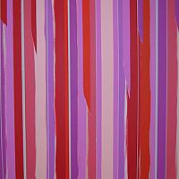 Untitled Pink (Stripes Series) 50cm x 50cm Acrylic and Tape on Canvas