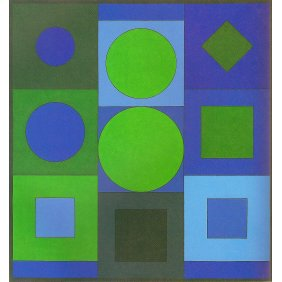 Alphabet VB - Victor Vasarely 1960 Acrylic on canvas 160x150cm 