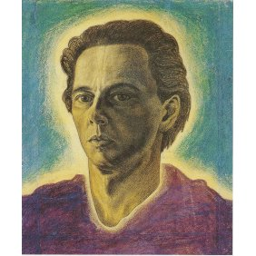 Autoportrait - Victor Vasarely 1934 Pastel on paper 56x36cm 