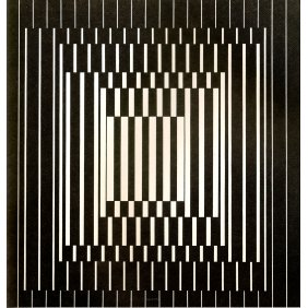 Bora III - Victor Vasarely 1964 Oil on canvas 149x141cm 