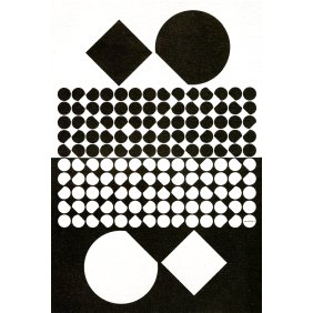 Cassiopee II - Victor Vasarely 1958 Acrylic on canvas 195x130 