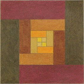 Etudes Bauhaus D - Victor Vasarely 1929 Oil on board 23x23cm 