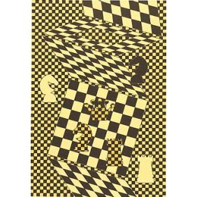 L'Echiquier - Victor Vasarely, 1935 Oil on board 61x41cm 