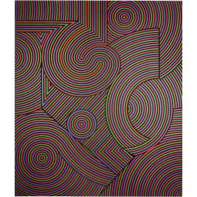 Tekers-MC - Victor Vasarely 1981 Acrylic on canvas 235x201cm