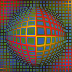Vega-Nor - Victor Vasarely 1969 Acrylic on Canvas 200x200cm