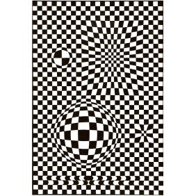 Vega - Victor Vasarely 1957 Acrylic on canvas 195x130cm 
