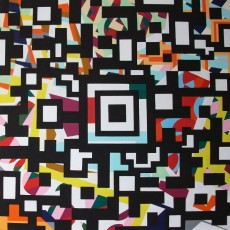 Aztek Code 80 x 80 Acryl auf Leinwand 2012