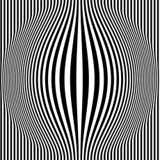 Op Art Bulging Vertical Stripes featured