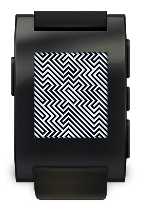 Op Art Illusion pebble watch face