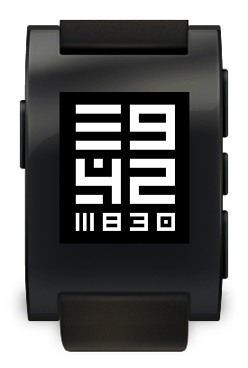 Op Art Squared pebble watch face